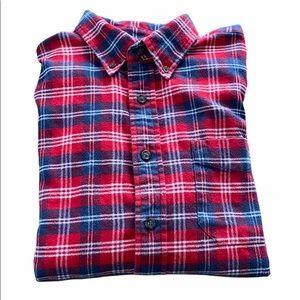 EDDIE BAUER Red Flannel Plaid Button Down Shirt